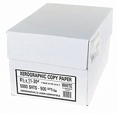 "Alliance Xerographic Copy Paper 8.5"" x 11"" 95 Bright 20#, 500 Sheets/Ream 10 Reams/Carton 5,000 Sheets total (1006)"