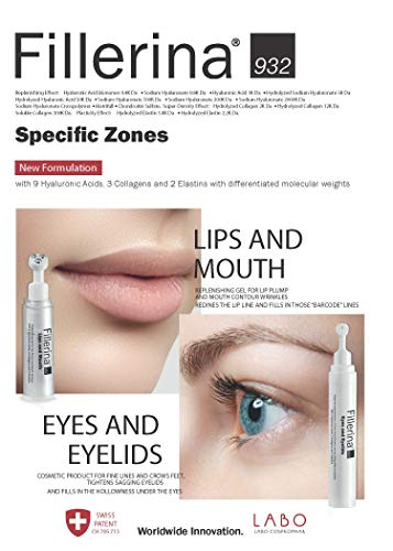 Fillerina 932 Eyes and Eyelids - Eye Treatment That Fills In Under Eye Hollowness, Smooths Crows Feet, and Tightens Eyelids – Hyaluronic Acid and Collagen Eye Treatment (Grade 5) by Fillerina (Image #2)