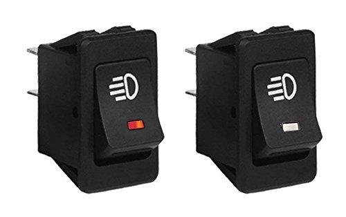 Fog Lamp Switch LED working indicator light Car 12V Rocker Switch 4Pin Universal