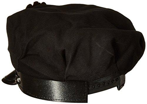 Jacobson Hat Company Men's Police Cap, Black, Adult