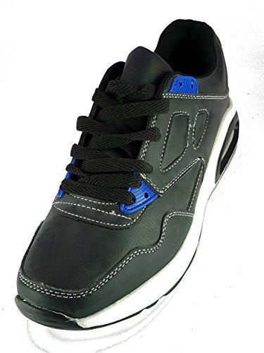 generico Shoes Scarpe da Passeggio Ginnastica Sneakers Donna Ragazza Moda TG 39 Colore Nero Tessuto Fin Pelle con Lacci