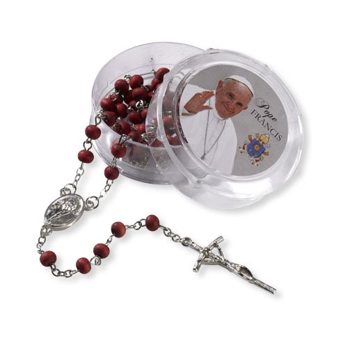 CatholicEStore.com Pope Francis Rose Scented Rosary