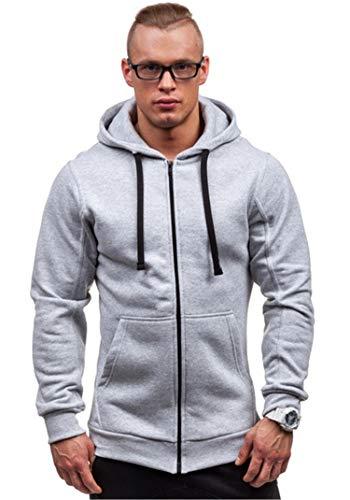 Soluo Mens Athletic Hooded Jacket Slim Fit Outdoor Sports Lightweight Hoodie Sweatshirt Outwear Pullover Tops
