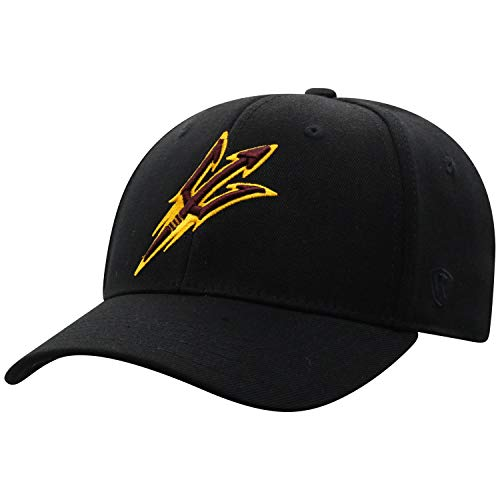 Top of the World Arizona State Sun Devils Men's Memory Fit Hat Icon, Black, One Fit