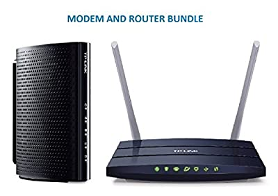 TP-Link DOCSIS 3.0 (8x4) High Speed Cable Modem (TC-7610) and TP-Link AC1200 Wireless Wi-Fi Dual Band Router (Archer C50) Bundle Kit - Comcast, TWC, Cox Cable, and Brighthouse 100 Compartible by TP-Link