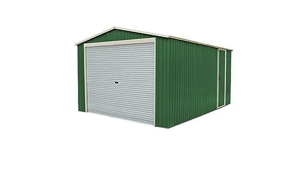 Garageplus - Caseta de chapa galvanizada para jardín y exterior, 350 x 574 x 245 cm de altura: Amazon.es: Bricolaje y herramientas