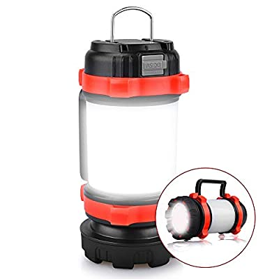 YIERBLUE Camping Lantern, Rechargeable LED Lantern IPX4 Waterproof 1000lm Lantern Flashlights, 4 in 1 Multifunctional Camping Light Spotlight as Emergency Power Bank, 4000mAh Long Running