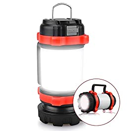 YIERBLUE Camping Lantern, Rechargeable LED Lantern IPX4 Waterproof 1000lm Lantern Flashlights, 4 in 1 Multifunctional…