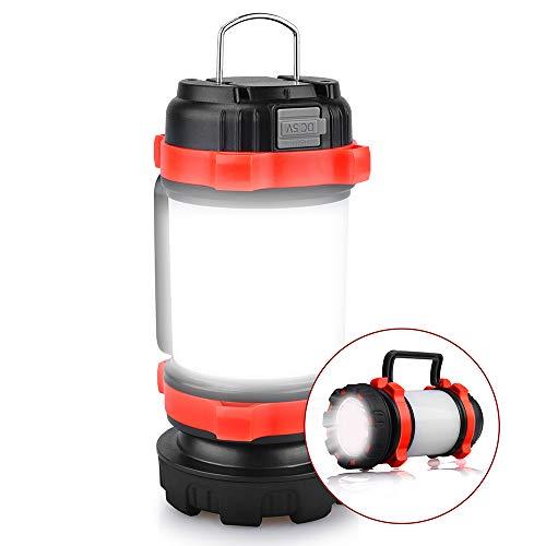 YIERBLUE Camping Lantern, Rechargeable LED Lantern IPX4 Waterproof 1000lm Lantern Flashlights, 4 in 1 Multifunctional Camping Light Spotlight as Emergency Power Bank, 4000mAh Long Running