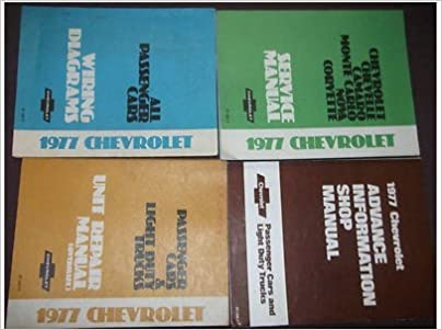 1977 chevrolet chevy nova service repair shop manual set factory oem 77  huge (service manual,unit repair manual, wiring diagrams manual, and the  advance