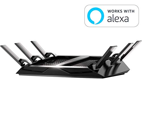 NETGEAR Nighthawk X6S AC4000 Tri-band WiFi Router, Gigabit Ethernet, MU-MIMO, Compatible with Amazon Echo/Alexa (R8000P)