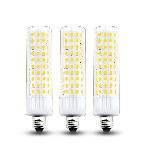 Bonlux 8.5W E11 LED Bulb 100W Halogen Bulbs Equivalent JD T4 E11 Mini Candelabra Base LED Corn Light 120V Warm White 3000K for Pendants Landscape Table Lamp (3-Pack) ()
