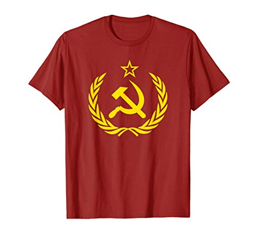 (Hammer and Sickle Star CCCP Soviet Union Red T-Shirt)