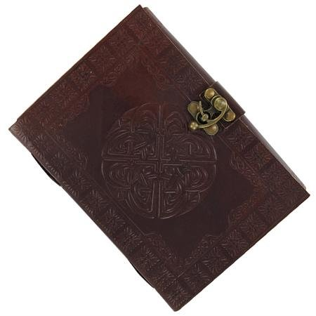 Ancient Celtic Warrior's Leather Shield Knot Journal (Celtic Warrior Knot)