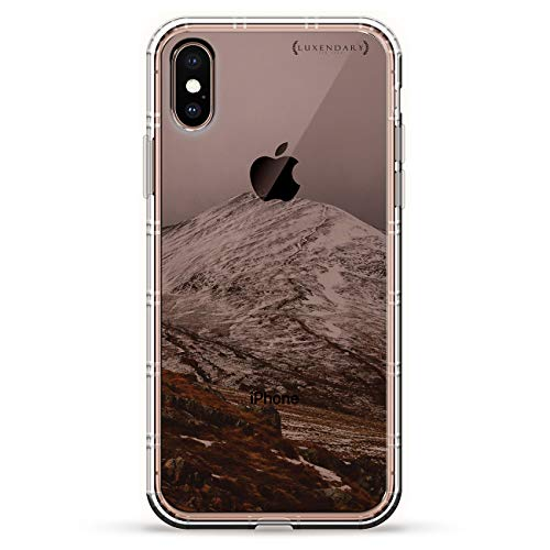 Snowy Air - SNOWY MOUNTAIN | Luxendary Air Series Clear Silicone Case with 3D printed design and Air-Pocket Cushion Bumper for iPhone Xs Max (new 2018/2019 model with 6.5