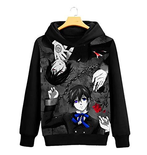 GO2COSY Anime Black Butler Kuroshitsuji Cosplay Jacket Sweatshirt Fleeces Costume -