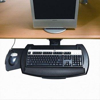 HON® Underdesk Articulating Keyboard Platform with Mouse Tray PLATFORM,F/KEYBOARD,BK R1120 (Pack of2) (Hon Articulating Keyboard Platform)