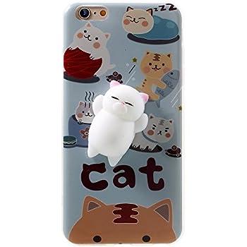 Amazon.com: Squishy Cat Phone Case for iPhone 6s Plus Kawaii ...