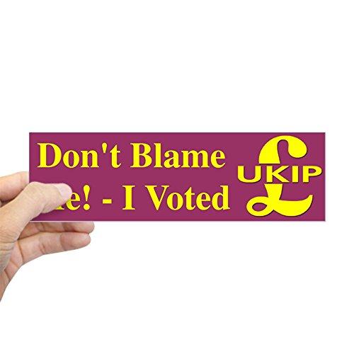 """CafePress I Voted UKIP Bumper Sticker 10""""x3"""" Rectangle Bumper Sticker Car Decal"""