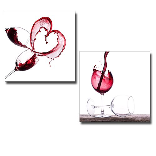 Red Wine Splashing 2 Panel x 2 Panels