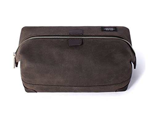 Jack Spade Men's Waxwear Travel Kit Chocolate Brown by Jack Spade