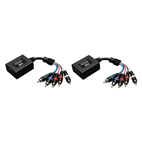 Tripp Lite Component Video with Stereo Audio over Cat5 / Cat6 Extender, Transmitter and Receiver (B136-101)