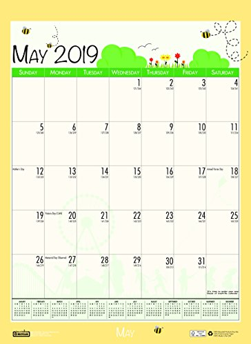 House of Doolittle 2018-2019 Monthly Seasonal Wall Calendar, Academic, 12 x 16.5 Inches, July - June, Case of 24 (HOD3395PK-19) by House of Doolittle (Image #7)