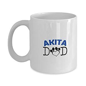 Funny Akita Couple Mug - Akita Dad - Akita Mom - Akita Lover Gifts - Unique Ceramic Gifts Idea (Dad) 17