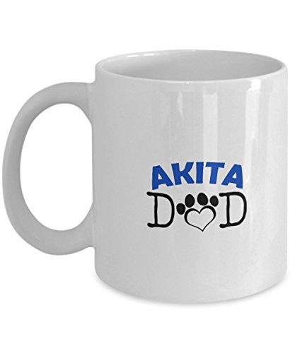 Funny Akita Couple Mug - Akita Dad - Akita Mom - Akita Lover Gifts - Unique Ceramic Gifts Idea (Dad) 1