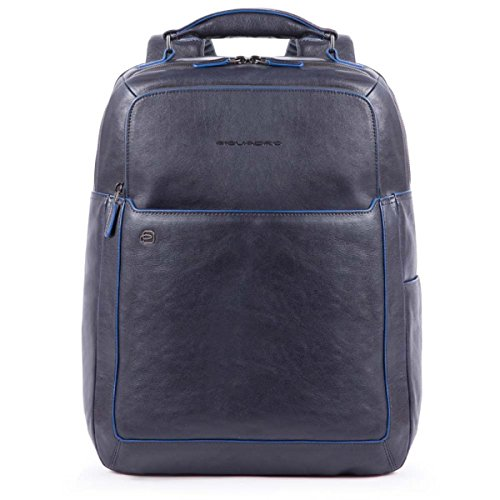 Piquadro Blue Square Special Business Mochila piel 42 cm compartimento Laptop Blu