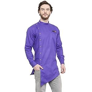 Ben Martin Men Rich Cotton Blend Short Designer Kurta-BM-DDD-007