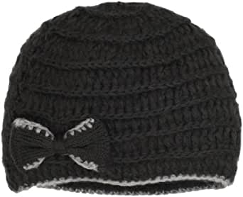 Jessica Simpson Women's Knitted Bow Cloche Hat, Grey, One Size