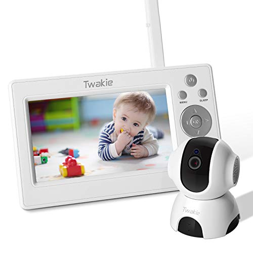 Video Baby Monitor with Large 5 HD LCD Display 720P Digital Camera,Infrared Night Vision,Temperature Sound Monitoring, Two Way Audio, 5Lullabies,960ft Far Long Range