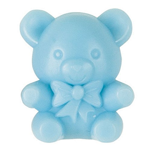 Unique Industries Plastic Blue Teddy Bear Boy Baby Shower Favor Charms, 16ct