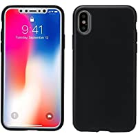 AnsTOP Soft Matte Silicone Gel Rubber Ultra Slim iPhone X case