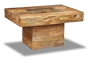 Light Mango Wood Large Pebble Coffee Table   Living Room Furniture