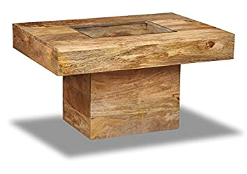 Light Mango Wood Large Pebble Coffee Table Living Room