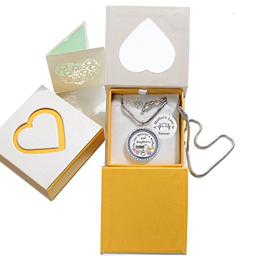 Beffy Daughter or Mom Love Gift, Memory Floating Locket Pendant Necklace with Birthstones & Charm for Morther Mom Mammy Mama or Girls by Beffy (Image #1)