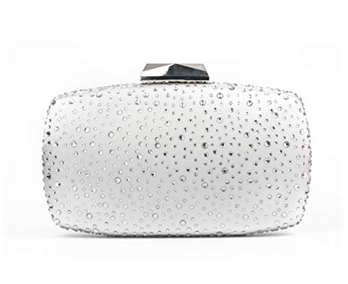 Sparkling Evening Clutch Purse Vandysi Elegant Glitter Bag Crystal Rhinestone Handbag for Dance Wedding Party Prom Bride (2, Silver)