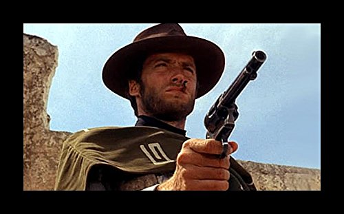 Historical Photo Collection 8 x 10 Photo Framed Clint-Eastwood-A-Fistful-Of-Dollars On High Qquality Fiji Film Paper