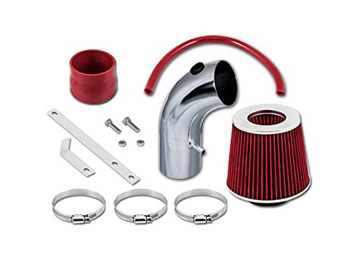 RL Concepts Red Short Ram Air Intake Kit + Filter 01-09 For Chrysler PT Cruiser All Model with 2.4L Non-Turbo -