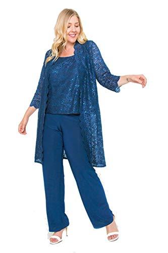 R&M Richards Mother of The Bride Plus Size Pant Suit ()
