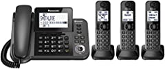 Panasonic KX-TGF383M Link2Cell Bluetooth Cordless Phone and Answering Machine with 3 Handset. Conference Call with Outside Line : 3Way