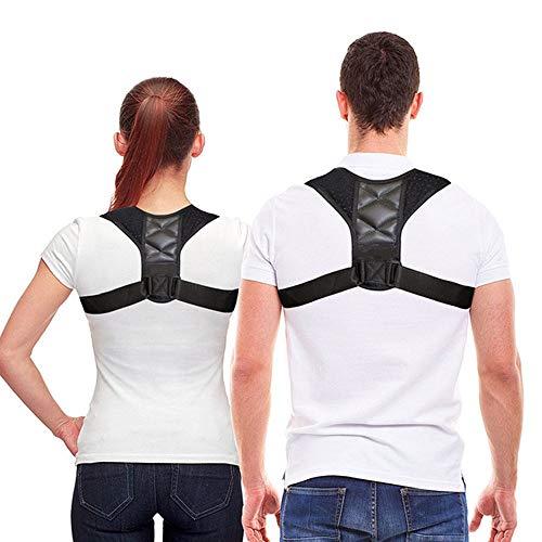 (Grtodnz Back Correction Belt for Adults Children, Adjustable Posture Corrector, Body Shaping Stereotypes Sitting Posture, Hunchback, Correcting The Spine Back, Black )