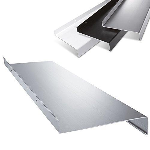 Aluminium Fensterbank in Blank Zuschnitt nach Maß Länge 1000 mm Ausladung 50 mm - weitere Längen und Farben wählbar