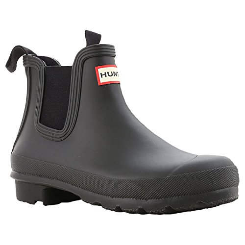 Hunter Womens Original Chelsea Black Rubber Boots 8 US from Hunter