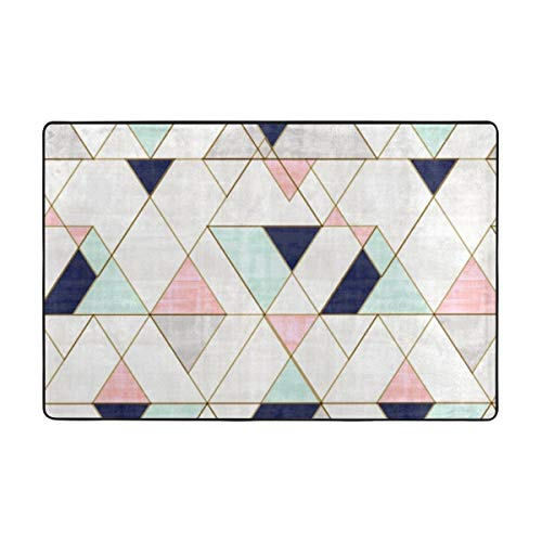 Amazon.com: Mod Triangles Navy Blush Mint Area Rugs for ...