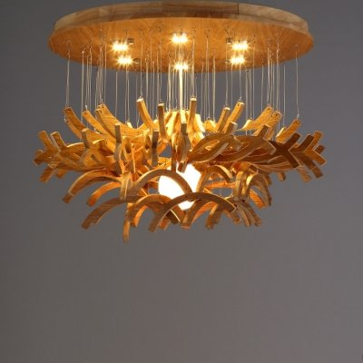 Wooden Stick Pendant Light in US - 5