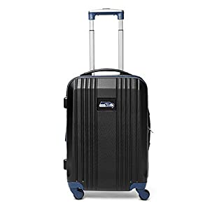 Denco NFL Seattle Seahawks Hardcase Two-Toned Luggage Carry-On Spinner