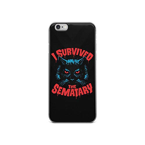 iPhone 6/6s Pure Clear Case Cases Cover I Survived The Sematary Cat Pets Horror]()